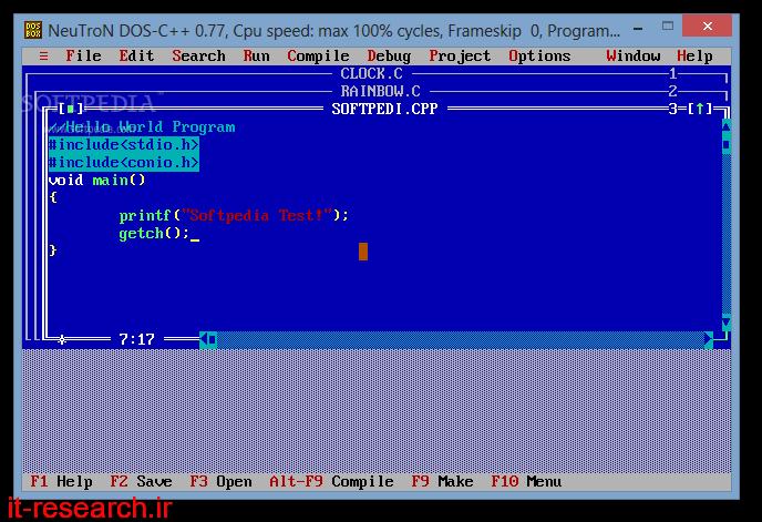 نرم افزار Turbo C++