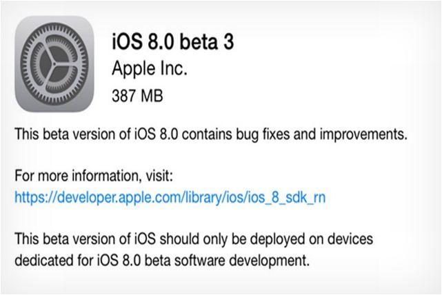 ios 8 beta3