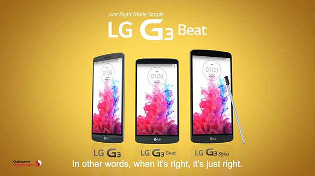LG G3 G3 Beat G3 Stylus