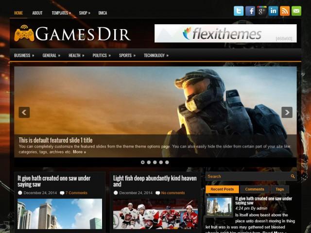 قالب GamesDir برای وردپرس
