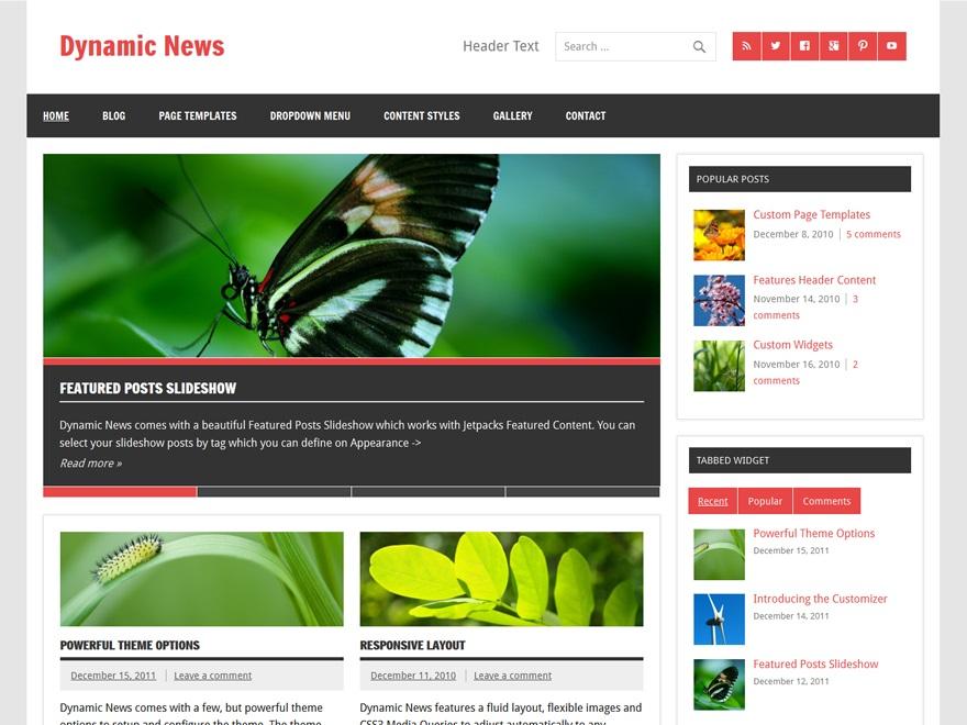 قالب مجله خبری Dynamic News برای وردپرس
