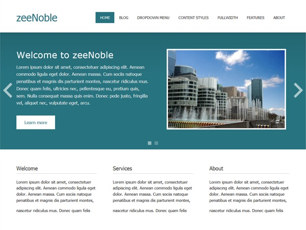 قالب شرکتی zeeNoble برای وردپرس