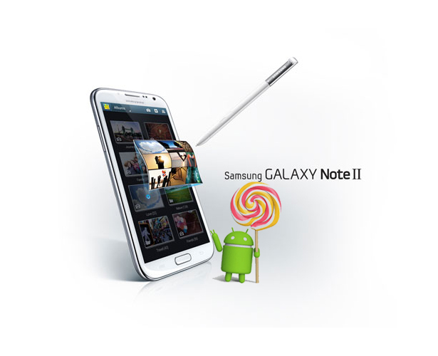 android 5.0 for the galaxy note II
