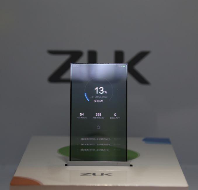 گوشی با صفحه نمایش شفاف ZUK