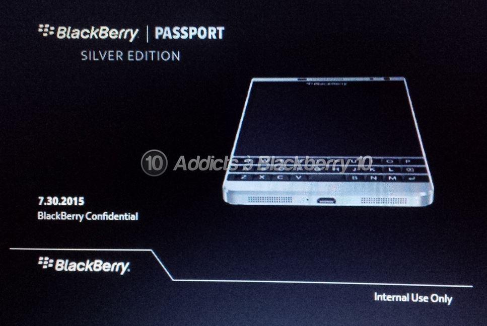 نسخه نقره ای گوشی بلک بری پاسپورت