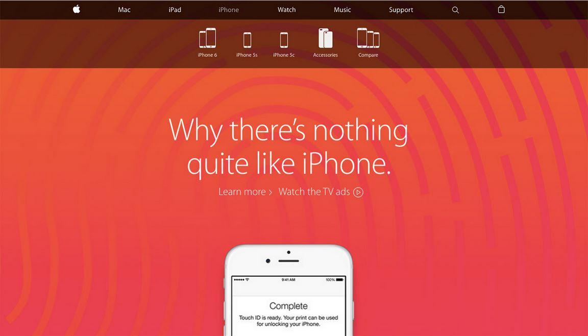 وبسایت جدید اپل