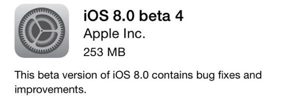 ios 8 beta4