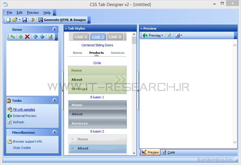 نرم افزار CSS Tab Designer V2.0