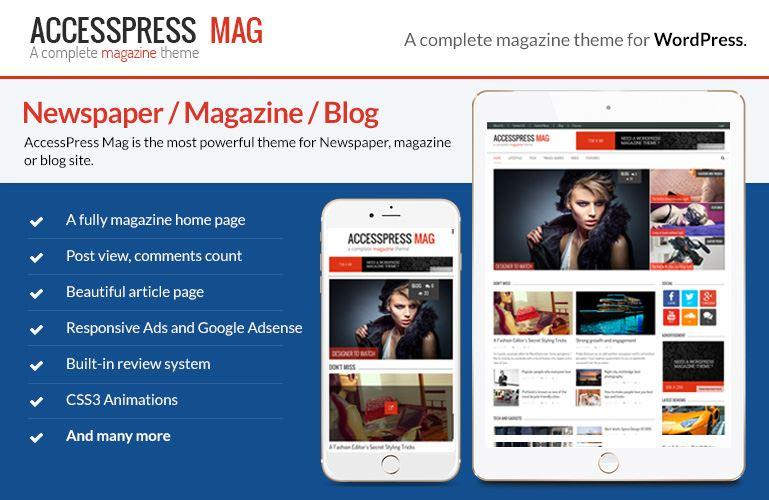 قالب مجله خبری AccessPress Mag برای وردپرس
