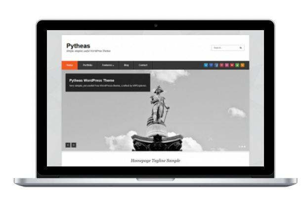 قالب شرکتی Pytheas برای وردپرس