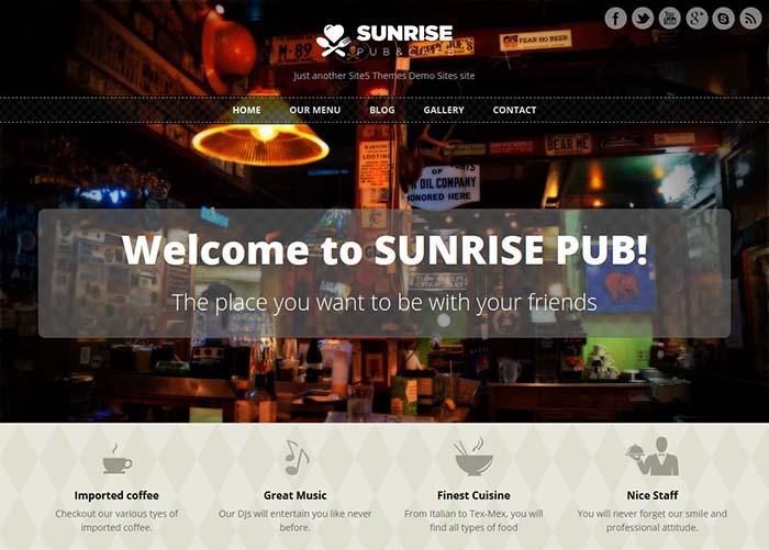 قالب شرکتی Sunrise برای وردپرس