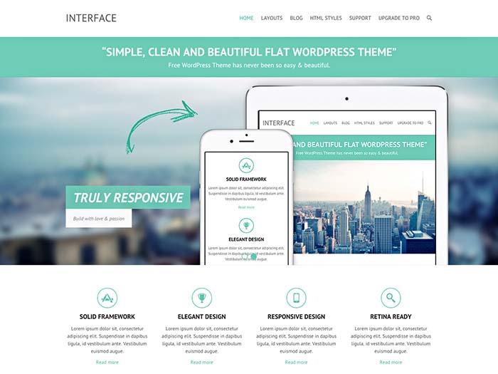 قالب شرکتی Interface برای وردپرس